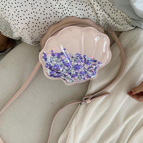 Сумка розовая необычная с блестками