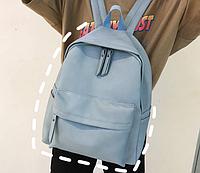 Рюкзак голубой из кожзама, фото 1