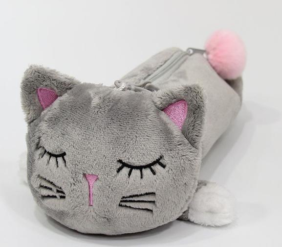 Пенал Сірий котик