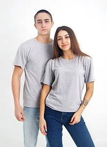 Універсальна футболка вільного крою (світло-сірий меланж)