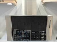 Sistema В 3198 (900 мм.) кухонная,вытяжка наклонная цвет нержавеющая сталь / черное стекло