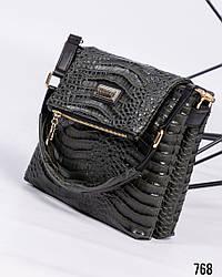 Женская сумочка-планшет  кожа с тиснением