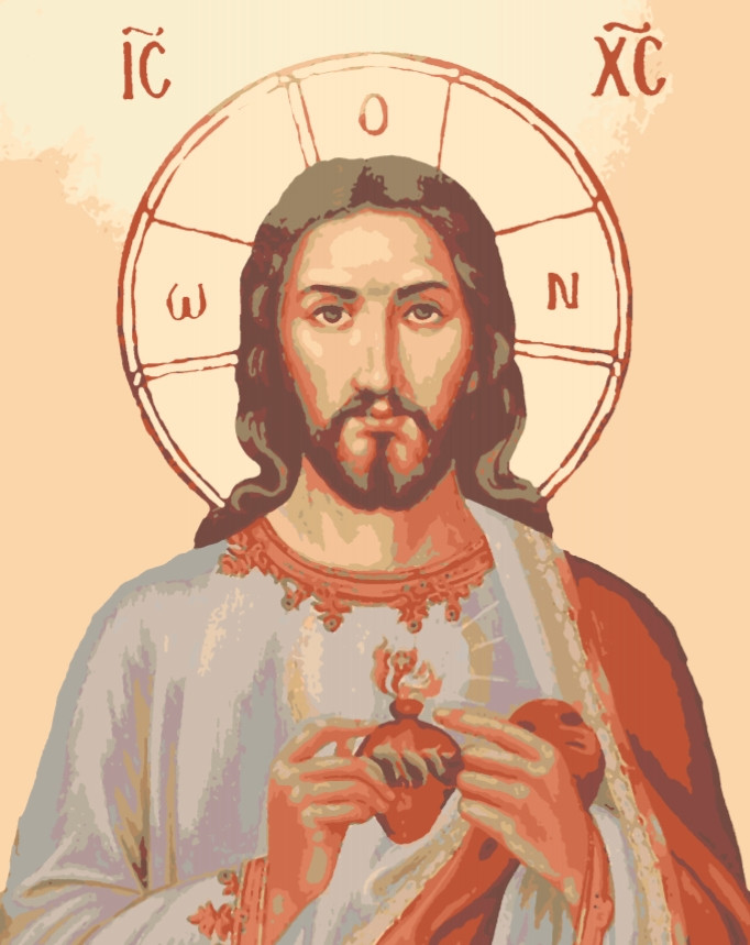 Картина по номерам Икона. Иисус, 40*50 см, без коробки RB