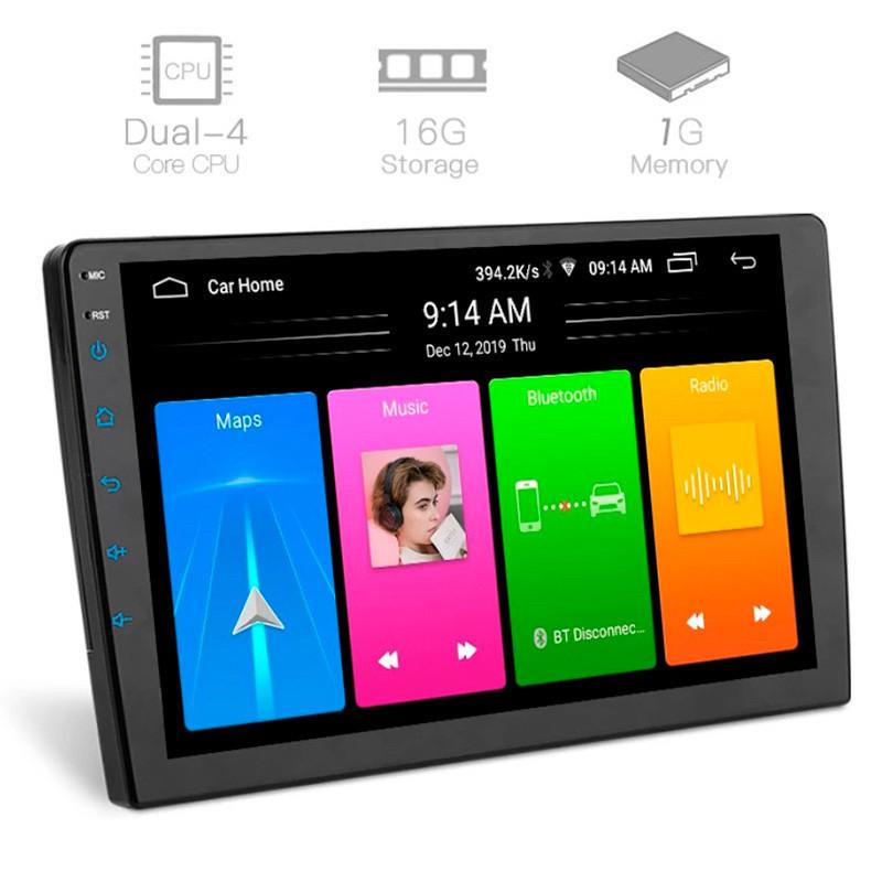 Универсальная автомагнитола Pioneer 10дюймов Android, 1GB RAM/ 16GB, WIFI, GPS, Bluetooth
