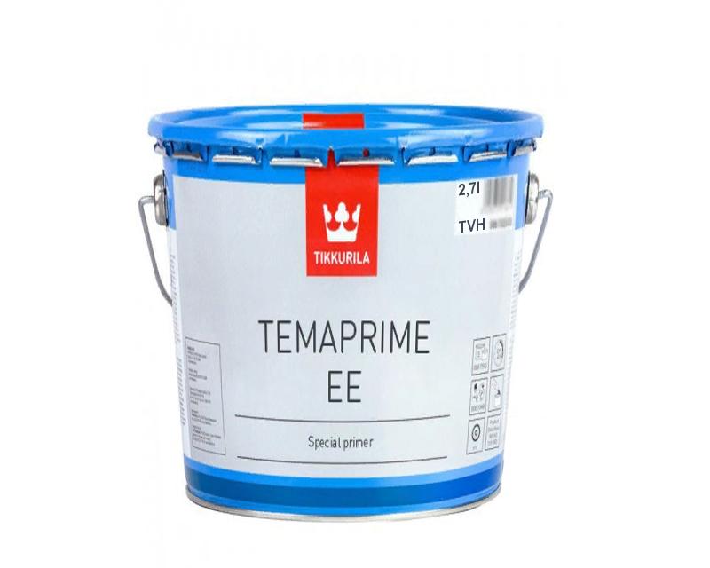 Грунт алкидный TIKKURILA TEMAPRIME ЕЕ антикоррозионный, TVH-белый, 2,7л