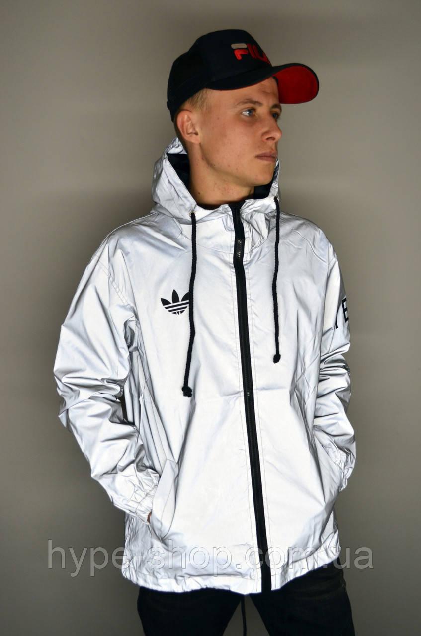 Мужская рефлективная куртка Adidas Yeezy Y-3 рефлективная ветровка Adidas реплика