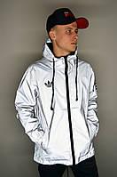 Мужская рефлективная куртка Adidas Yeezy Y-3 рефлективная ветровка Adidas реплика, фото 1