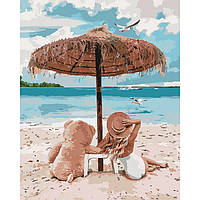Картины по номерам 40х50 см Идейка Я и мой мишка (КНО4671)