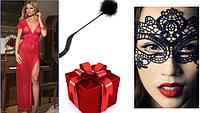 Эротический комплект белья . сорочка в пол и кружевная маска, фото 1