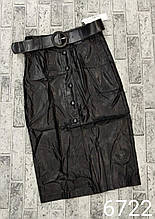 Спідниця жіноча модна стильна, еко-шкіра норма розмір 42-46 купити оптом зі складу 7 км Одеса