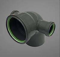 Каналізаційний відвід (коліно) ASG Plast 110 з двома відводами ф 50 90 градусів