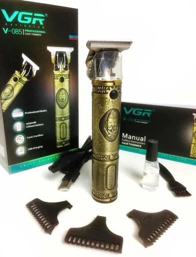 Современная аккумуляторная машинка для стрижки волос VGR V-085 Триммер для волос на USB бритва для мужчин