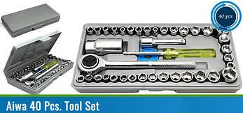 Набор головок с трещеткой, инструмент на 40 предметов, фото 2