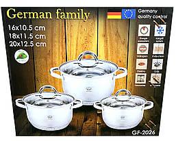 Набір каструль з нержавіючої сталі German Family GF-2026, фото 3