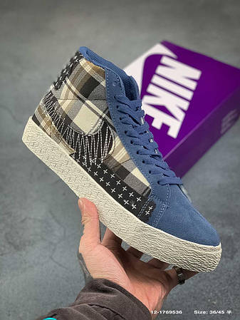 "Кросівки  Nike  SB Blazer Mid Premium""Sashiko Sesame"