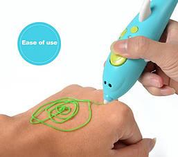 """Ручка 3D аккумуляторная """"Дельфин"""" K9903 с трафаретом, фото 2"""