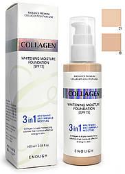 Тональный крем Enough 3in1 Collagen Whitening Moisture Foundation SPF 15, 100 мл.