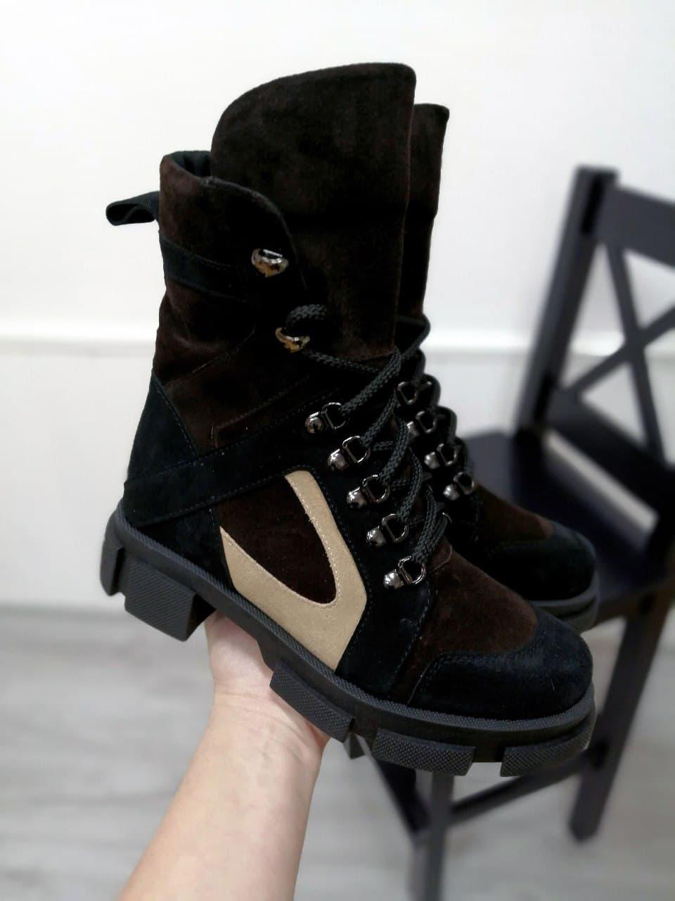 Жіночі молодіжні черевики з натурального замша різних кольорів