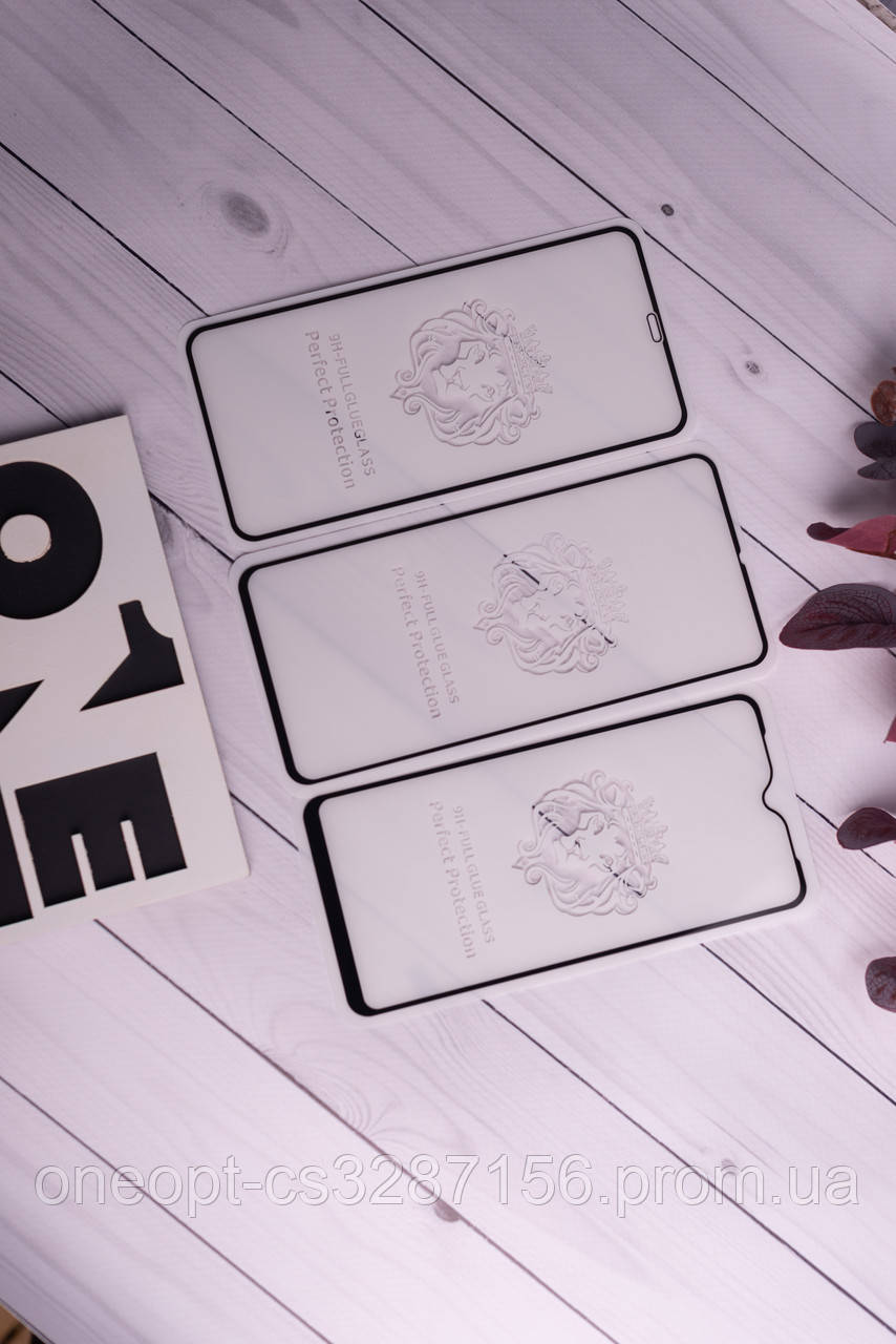 Захисне скло повний клей LION Xiaomi Redmi 7A White