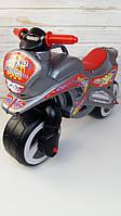 """Каталка """"Мотоцикл"""", Велобег,  серый металлик, Kinderway 11-006"""