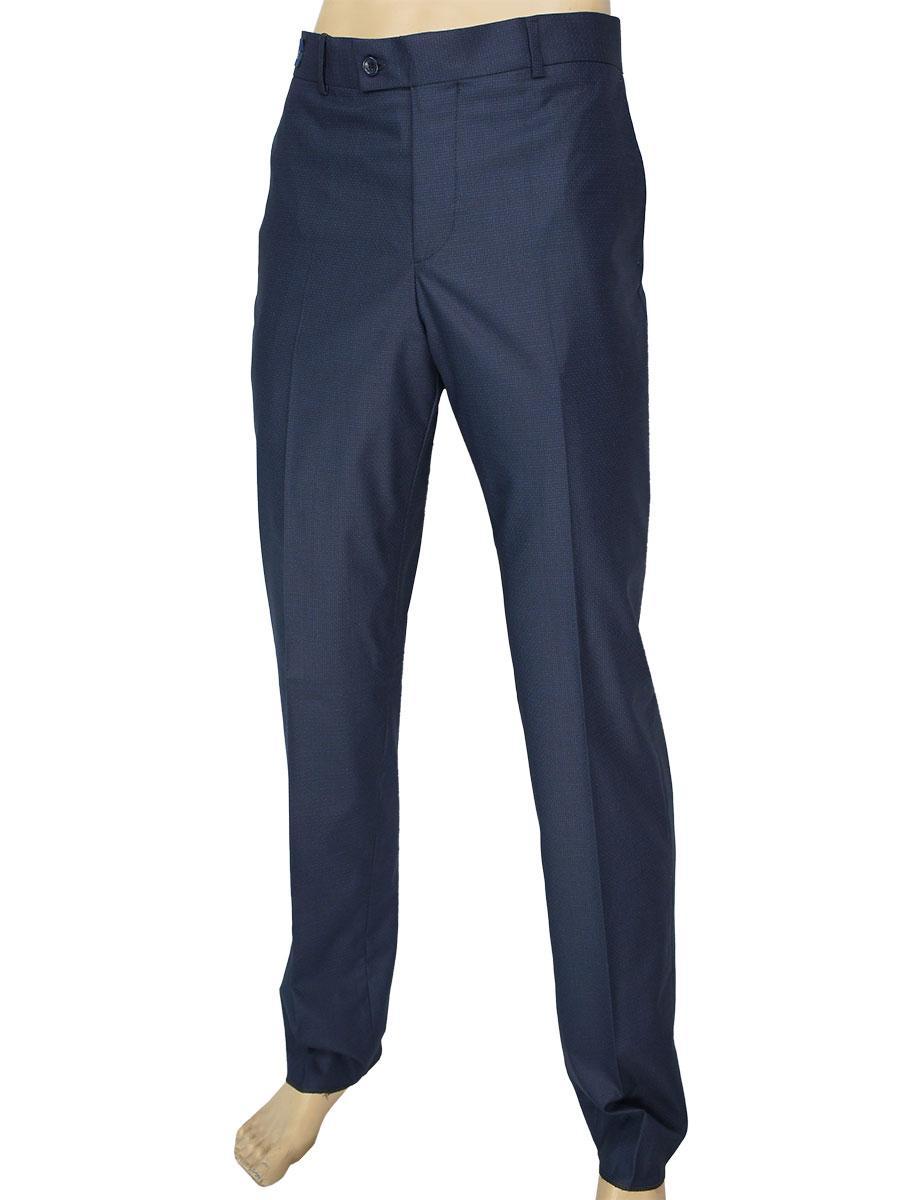 Класичні чоловічі брюки Monzeratti C-144 G6 indigo struct