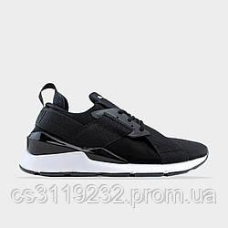 Женские кроссовки Puma Muse Metal Black White (черные)