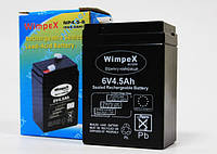 Аккумулятор: 6V 4.5Ah  (для весов, фонарей, радиоприемников)  WimpeX