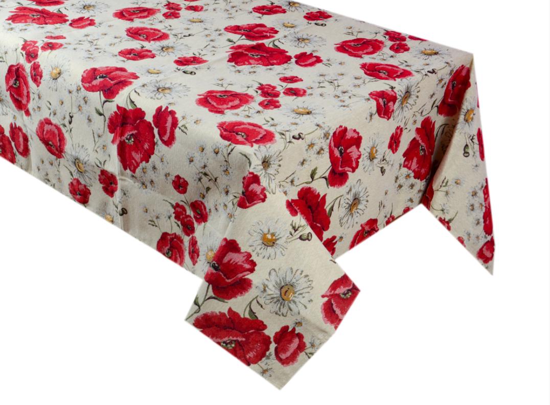 """Скатертина святкова """"Poppy"""" ТМ Lеfard, розмір 140х220 см"""