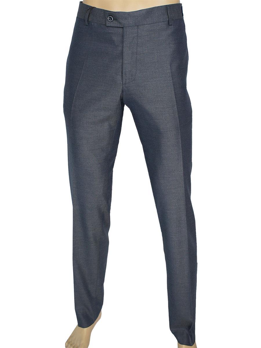Классические мужские брюки Monzeratti C-001 C:04 grey-blue slim