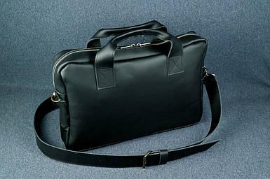 Кожаная мужская сумка Стивен, натуральная кожа Grand цвет Черный