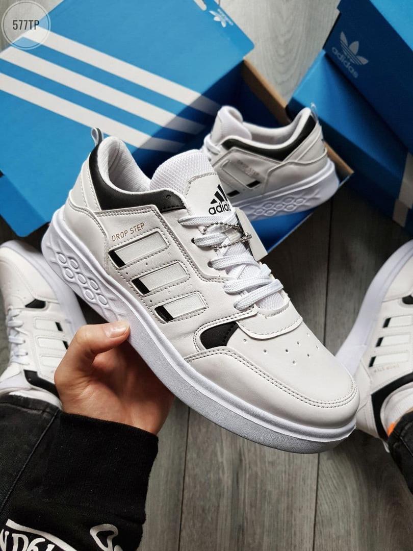 Чоловічі кросівки Adidas Drop Step (білі) 577TP спортивні демісезонні кроси на весну