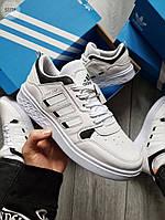 Мужские кроссовки Adidas Drop Step (белые) 577TP спортивные демисезонные кроссы на весну
