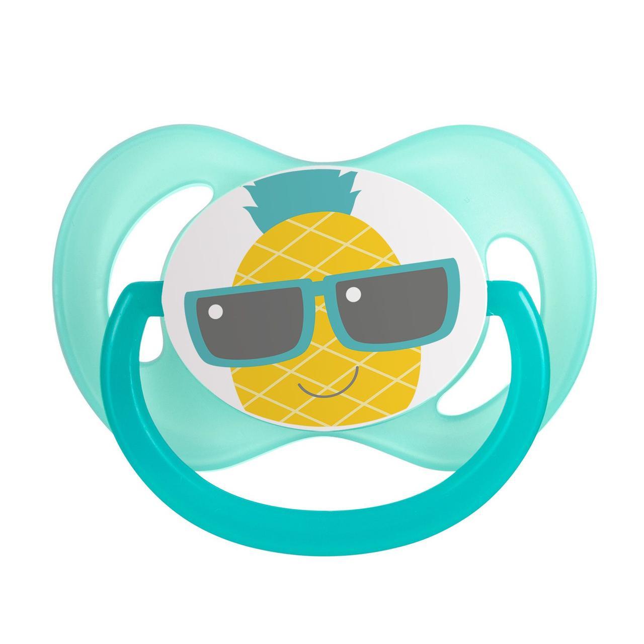 Пустушка силіконова симетрична 6-18 м-ців So Cool - бірюзова Canpol babies 22/522_tur