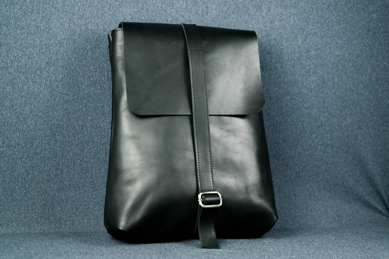 Рюкзак Трансформер, Шкіра Італійський краст, колір Чорний