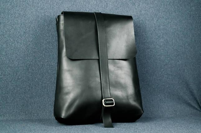 Рюкзак Трансформер, Шкіра Італійський краст, колір Чорний, фото 2