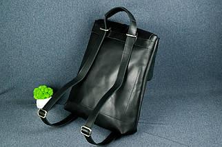 Рюкзак Трансформер, Шкіра Італійський краст, колір Чорний, фото 3