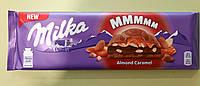 Шоколад Milka з мигдалем і карамеллю молочний 300 г