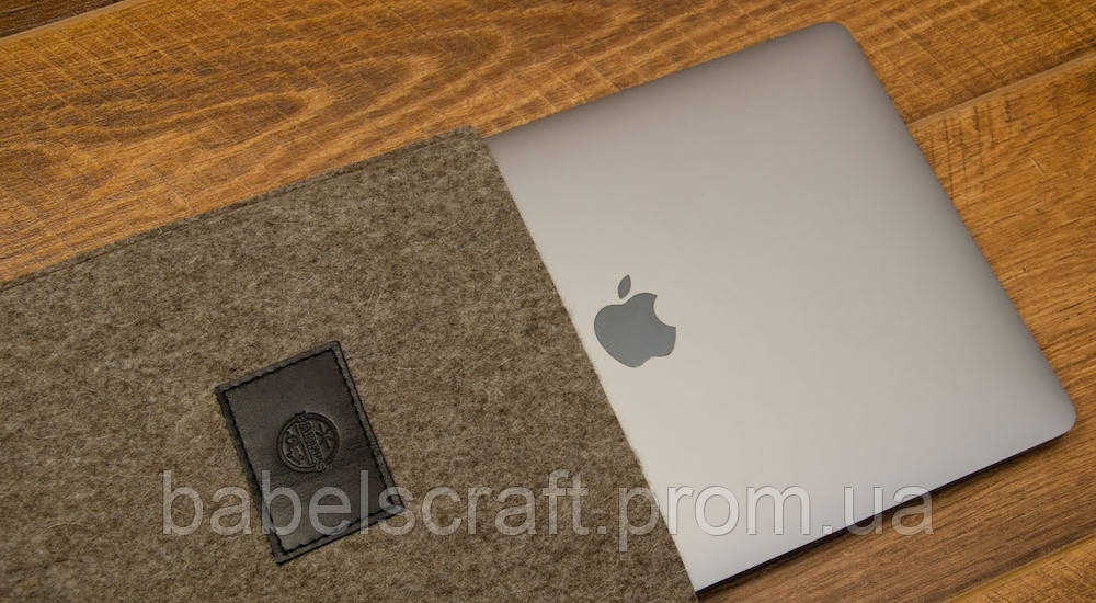Чехол Babel's Craft Felty для MacBook 12 (2017-2015), мокко