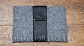 Чохол Babel's Craft Незвичний для MacBook Air 13 (M1, 2020-2018), чорний з сірим