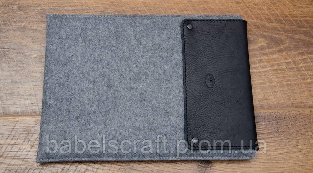 Чохол Babel's Craft Lep для MacBook Pro 13 (M1, 2020-2016), чорний з сірим