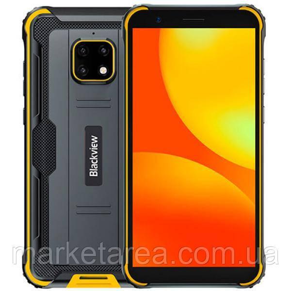Смартфон ударопрочный с мощной батареей на 2 симки Blackview BV4900 Yellow 3/32 гб Global (Гарантия 12 мес)