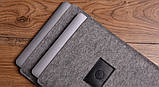 Чохол Babel's Craft Felty для MacBook Pro 15 (2019-2016) сірий з чорним, фото 3