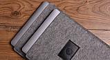 Чохол Babel's Craft Felty для MacBook 12 (2017-2015) сірий з чорним, фото 3