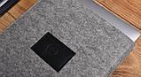 Чохол Babel's Craft Felty для MacBook Pro 13 (M1, 2020-2016) сірий з чорним, фото 2