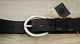 Ремень для джинсов Babel's Craft West, Черный Средний 115см. - 125см., фото 4