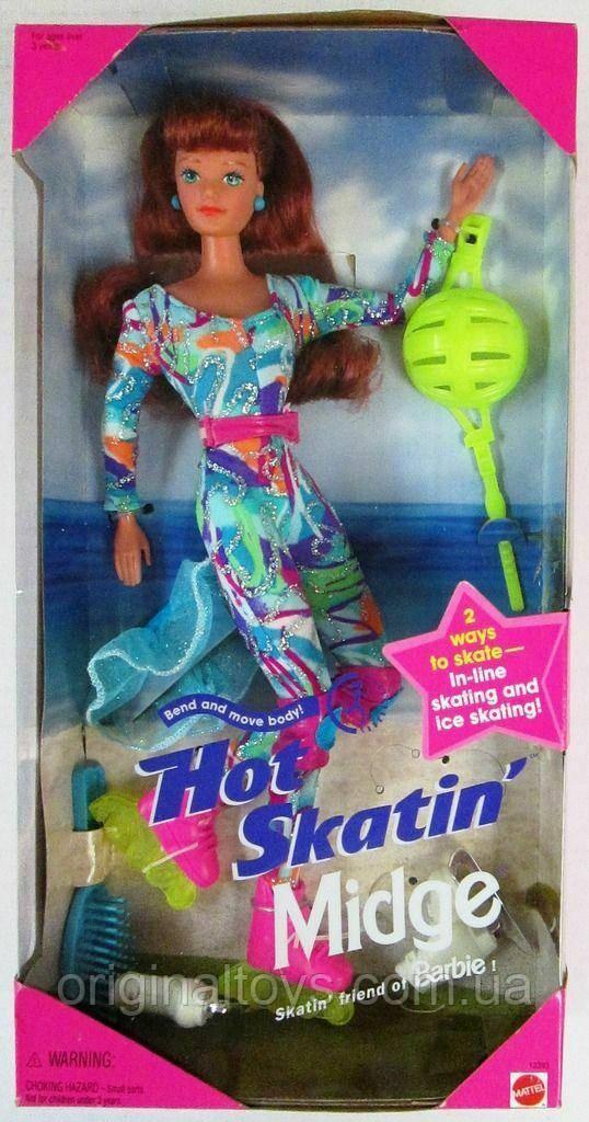 Коллекционная кукла Барби Мидж Midge Hot Skatin 1995 Mattel 13393