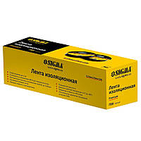 Ізолента ПВХ (чорна) 0.13 мм×19мм×20м Premium SIGMA (8411611)