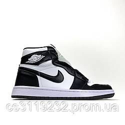 Женские кроссовки Air Jordan 1 Black White (белый/черный)