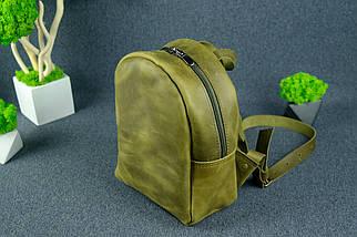 Рюкзак Колибри, Винтажная кожа, цвет Оливковый, фото 2