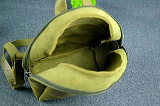Рюкзак Колибри, Винтажная кожа, цвет Оливковый, фото 3